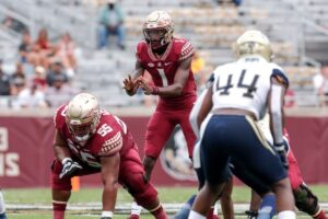 Florida State quarterback James Blackman led the Seminoles against Georgia Tech. Photo Courtesy of Don Juan Moore/ACC